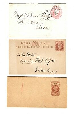 GB - QV 3 envelopes 1864 London to Essex + 2 others