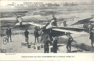 """Cpa Aviation Angers, Circuit D'anjou 1912 - Pilote  """" Hanriot """""""