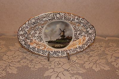 Vintage Lord Nelson Ware The Mill Oval Platter by Jacob van Ruysdael