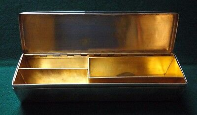 Antique French Silver Plate Gilt Interior Box Made for Danish Countess Moltke