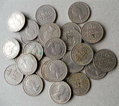 Collection Of 30 Old Shillings