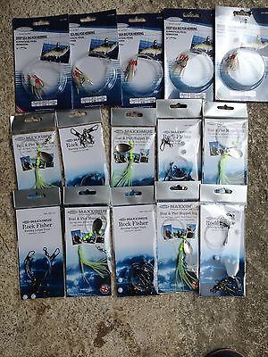 15 packs of mixed sea fishing feathers/rigs and Lures