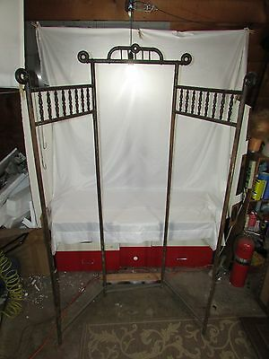 "Antique Victorian Stick & Ball Bentwood 71"" Privacy Dressing Screen~Room Divider"