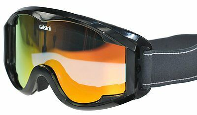Ski Goggles With Low Light Mirror Fire Cylindrical Lens Adults Size Cartina