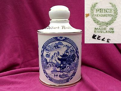 * PRICE KENSINGTON England * WILLOW PATTERN * TOILET / LOO ROLL HOLDER *