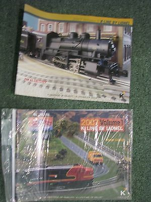 K-Line 2007 Volumes 1 and 2 by Lionel - Full Color Model Railroad Catalogs