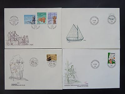 Aland 1986 FDC komplett / FDC complet