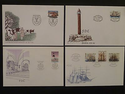 Aland 1988 FDC komplett / FDC complet