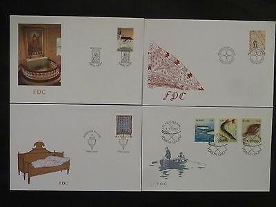 Aland 1990 FDC komplett / FDC complet
