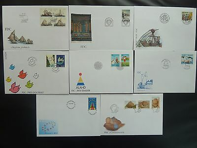 Aland 1995 FDC komplett / FDC complet