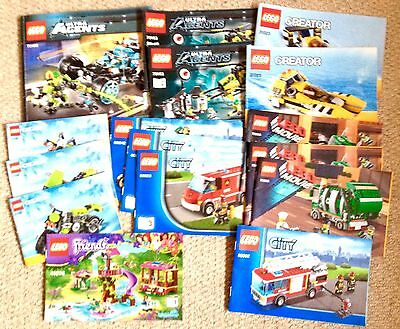 LARGE BUNDLE OF LEGO INSTRUCTIONS BOOKLETS MANUALS X17.w/w post£14