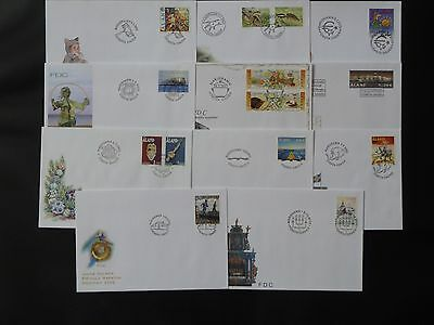 Aland 2002 FDC komplett / FDC complet