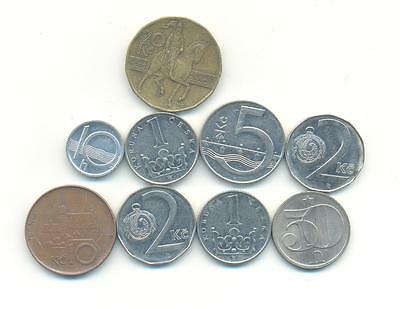 Very Nice Rare.mixed Lot Of Czechoslovakia  Coins.very Collectable.b.177