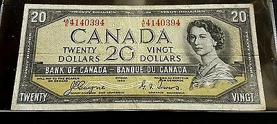 Canada 1954 Bank of Canada $20 Devils Face Note