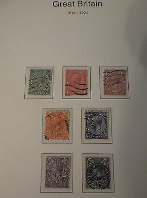 1912 - 1924 Great british stamps, collectors, hobby ,home, dealers