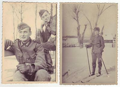 Lot 2 German Wwii Various Photos From Russian Archives: Men In Uniforms