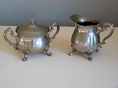 Vintage Decorative Sugar Bowl and Creamer