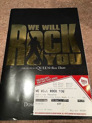 Theatre Programme: We Will Rock You (16/4/14, London)