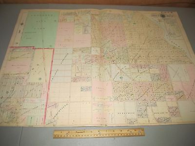 1908 Baist's Real Estate Atlas of Seattle Large Survey Plate 30 Rare Map