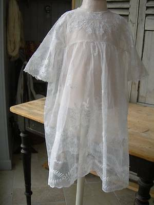 Adorable antique French child's tulle lace dress 1890s - wedding veil dress