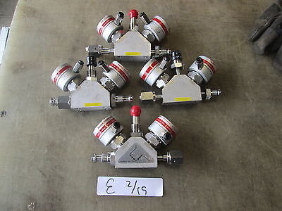 Used Lot of 4 Fujikin 3-Way High Pressure Valves, Normally Closed, MAKE OFFER!!!