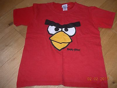 Boys' T-Shirts Bundle Age 7 - 8 Minecraft Angry Birds Dennis Menace Beano Green