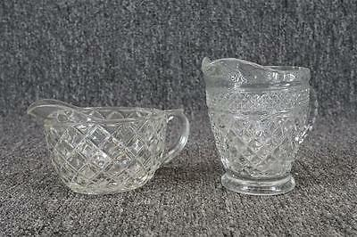 Vintage Set Of 2 Glass Creamers