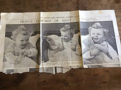 Morning Post 16 Dec 1936 Newspaper Clipping Prince Edward Of Kent