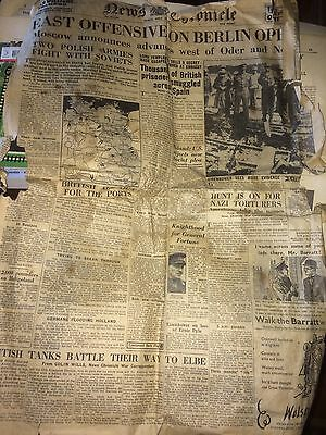 News Chronicle 20 Apr 1945 Closing Stages WWII East Offensive On Berlin Delicate