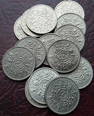 Uk British Florin/two Shillings Coin. Choose Your Year. Free Uk Post!