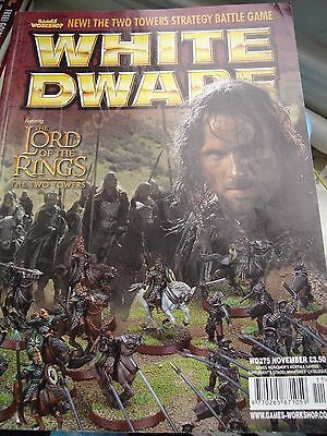 Games Workshop White Dwarf Magazine  Wd275 Nov 2002 Lotr The Two Towers