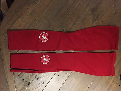 Castelli Cycle Leg Warmers, Red, S, Used Once