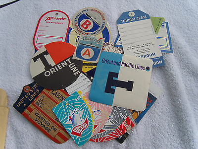 A Colllection of 21 cruise line labels etc.