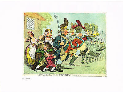 John Bull Going To The Wars Antique Military Picture Print