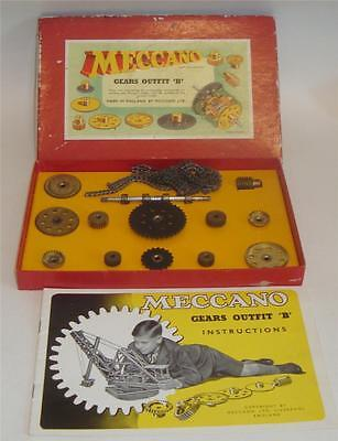 MECCANO GEARS OUTFIT B c 1950-60's