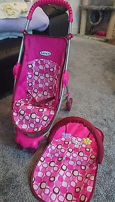 Baby Dolls Toy Pram Pushchair and Mat - Graco