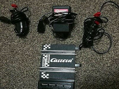 carrera go scalextric adaptor with 2 hand controllers and base