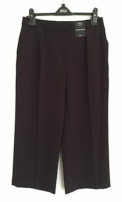 M&S Cropped Wide Leg Trousers Size 14 Short