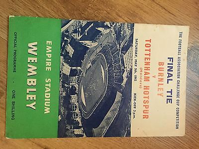1962 FA Cup Final Programme Burnley v Spurs  Excellent Condition