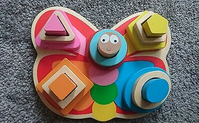 Grow and Play Butterfly Wooden Shapes Puzzle