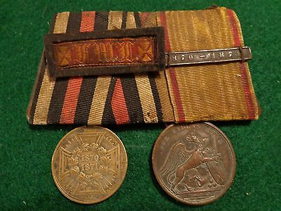 GERMAN FRANCO - PRUSSIAN WAR OF 1870 Two MEDAL BAR with Clasp