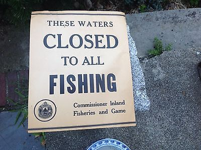 Old State Of New Hampshire Fishing Sign