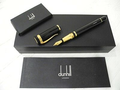 AUTHENTIC DUNHILL SENTRYMAN 18K YELLOW GOLD FOUNTAIN PEN 750 ORO Füller Penna