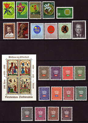 LIECHTENSTEIN LOVELY 1960s U/M COLLECTION OF STAMPS...INC. M/S AND OFFICIALS...