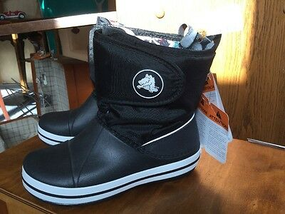 Crocs Winter Boot Kids brand new with tags size 2 Black