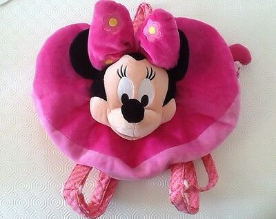 DISNEY Minnie Mouse Pink Heart Backpack Bag - Great Condition
