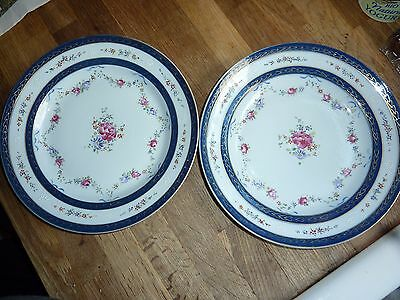 Pair Of Samson French Porcelain Plates In The Chinese Export Pattern Deco Style