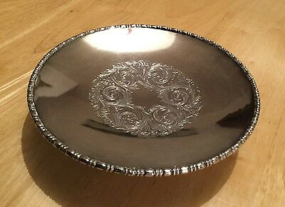 Vintage Silver Plated Tazza Plate. Cooper Brothers, Sheffield.