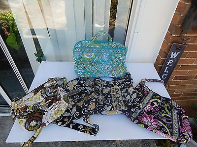 Vera Bradley Lot Of Five 5 Bags and Totes