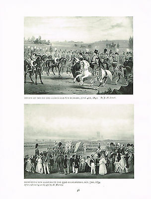 Review Of The 1st Life Guards & 8th Hussars 1842 Antique Military Picture Print